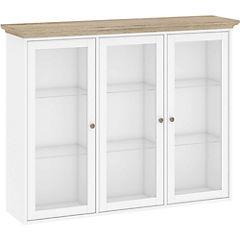 Gabinete pared 3 puertas 145x37x113 cm blanco y ak