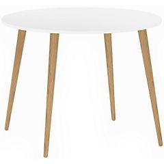 Mesa de comedor blanco 100x100x75 cm