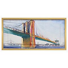 Cuadro Brooklyn bridge 50x100 cm