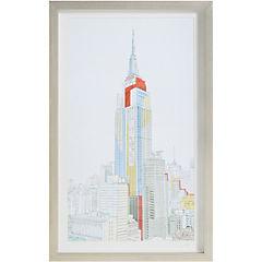 Cuadro enmarcado 44,5x75 cm Empire State