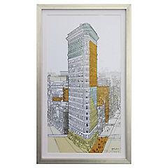 Cuadro enmarcado 44,5x75 cm edificio Flatiron New York