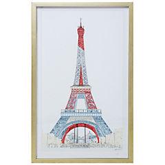 Cuadro enmarcado 53,5x90 cm torre Eiffel