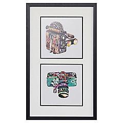 Cuadro enmarcado 40x67  cm dupla camara Pop Art