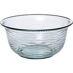 Bowl acrilico transparente con relieve