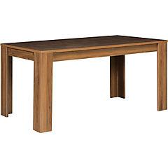 Mesa de comedor 79x88x160 cm walnut