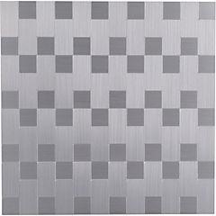 Palmeta autoadhesiva rectángulos plata 30x30 cm