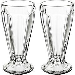 Set de copas de postre vidrio 2 unidades