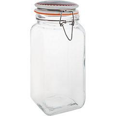 Frasco con tapa 1,7 litros vidrio Transparente