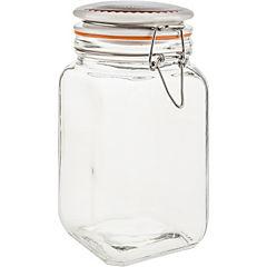Frasco con tapa 1,2 litros vidrio Transparente