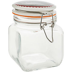 Frasco con tapa 0,7 litros vidrio Transparente