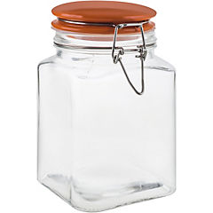 Frasco con tapa 1,1 litros vidrio Naranja