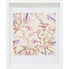 Cuadro enmarcado 48x58cm Flores 1 marco blanco