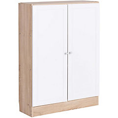 Modulo Basic 2 puertas 79x27x108 cm ak y blanco
