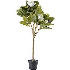 Árbol magnolio artificial 100 cm con macetero