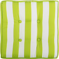 Cojín para piso 50x50 cm verde y blanco