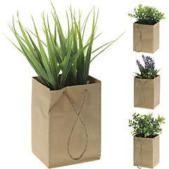 Planta artificial decorativa en bolsa de papel de 10x8,5 cm