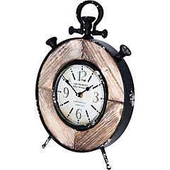 Reloj de mesa 32x27 cm café