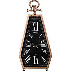 Reloj de mesa 50x25 cm negro