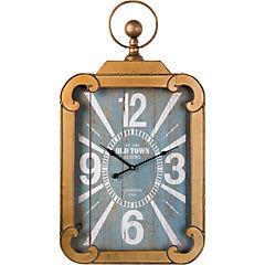 Reloj mural 82x45 cm negro