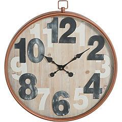 Reloj mural 67 cm café