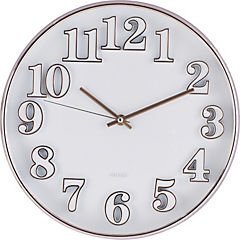 Reloj mural 30 cm plata
