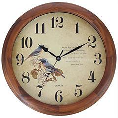 Reloj mural 40 cm café