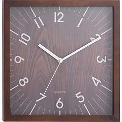 Reloj cuadrado madera moderno 30 cm