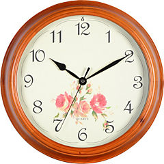 Reloj redondo madera 35 cm rosas