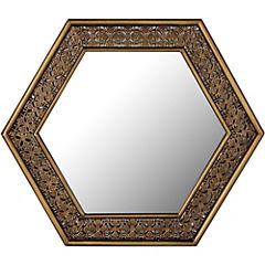 Espejo hexagonal 59x43 cm cobre