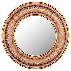 Espejo circular 73x73 cm cobre