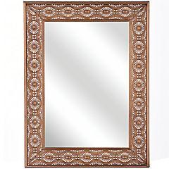 Espejo Rectangular metal cobre 81x61 cm