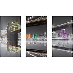 Set de canvas decorativo 90x60 cm 3 piezas