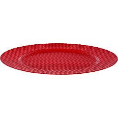 Plato textura rojo 33 cm