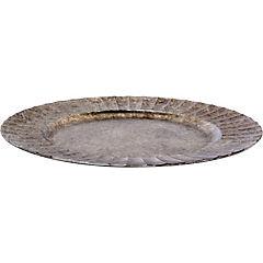 Plato redondo silver 33 cm