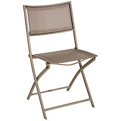 Silla Madrid plegable taupe