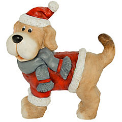 Perro con bufanda