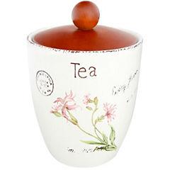 Canister cerámica flores tea