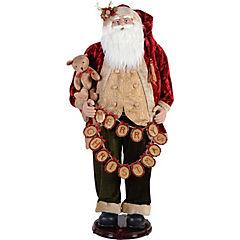 Santa animado led rojo y dorado sin baterías
