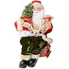 Santa sentado con árbol