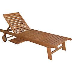 Reposera madera acacia con posición