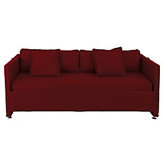 Sofá camarote 204x72x87 cm rojo