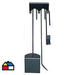 Set herramientas calefactores a leña 4 piezas