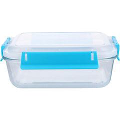 Conservador de vidrio 1,1 l rectangular clip color