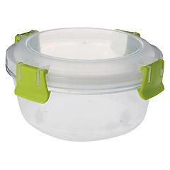 Conservador de vidrio 0,8 l redondo clip color