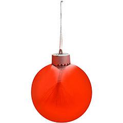 Esfera redonda roja luz Noel