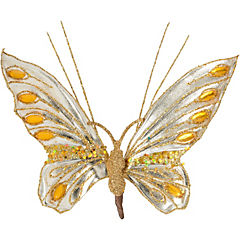 Adorno mariposa dorada 16 cm