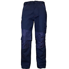 Pantalón de trabajo desmontable azul