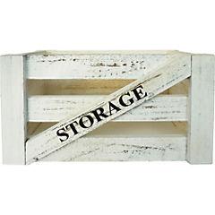 Caja decorativa 29x39x30 cm madera gris