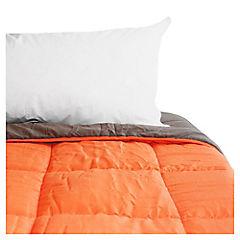Quilt bicolor 160x215 cm naranjo y café