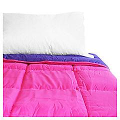 Quilt bicolor 160x215 cm fucsia y morado